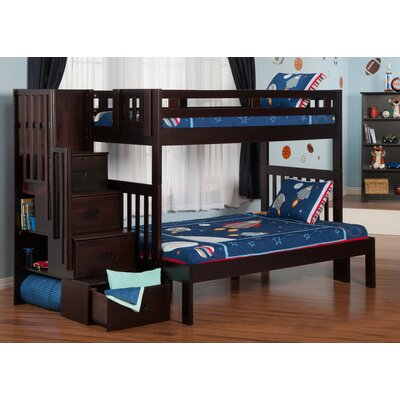 Viv + Rae Margaret Twin Over Full Bunk Bed with Staircase