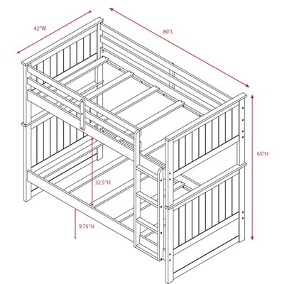 Viv + Rae Leann Twin Bunk Bed