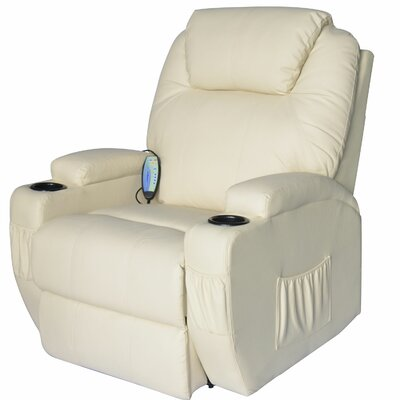 Outsunny HomCom Deluxe Heated Vibrating PU Leather Massage Recliner
