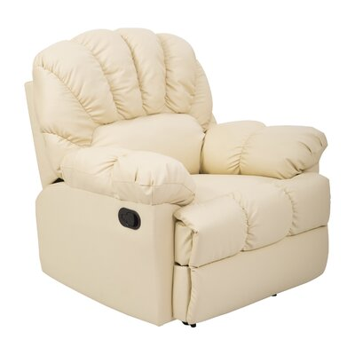 Outsunny HomCom Vinyl Leather Rocking Recliner