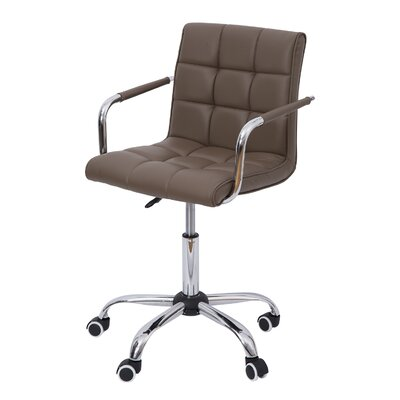 HomCom Mid-Back Leather Task Chair