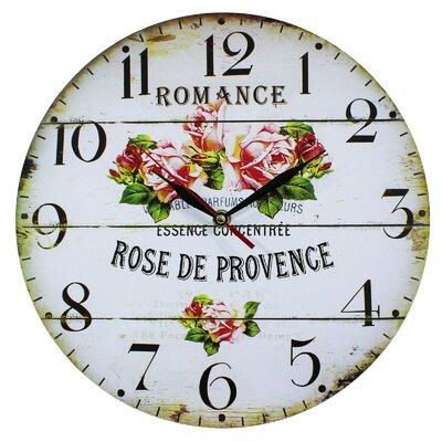 Obique 34cm Rose de Provence Wall Clock & Reviews