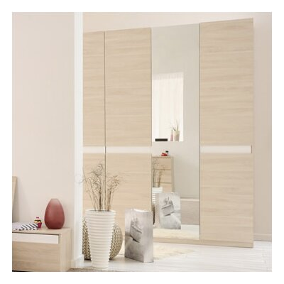 Parisot Mallow 4 Door Wardrobe Armoire