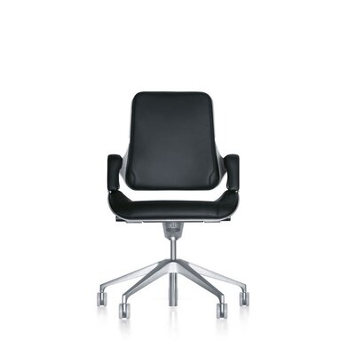 Interstuhl Mid-Back Leather Conference Chair