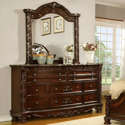 Fairfax Home Collections Patterson 10 Drawer Dresser with Mirror