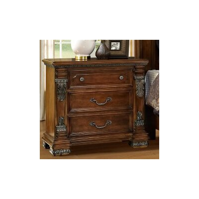 Fairfax Home Collections Orleans 3 Drawer Nightstand
