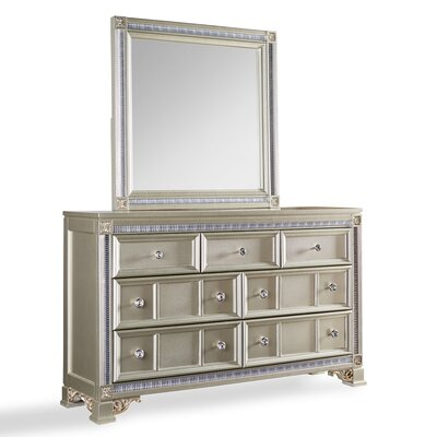 Fairfax Home Collections Tiffany 7 Drawer Dresser with Mirror