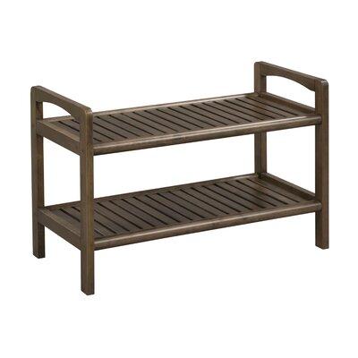 new ridge home goods abingdon solid wood storage entryway bench wayfair. Black Bedroom Furniture Sets. Home Design Ideas