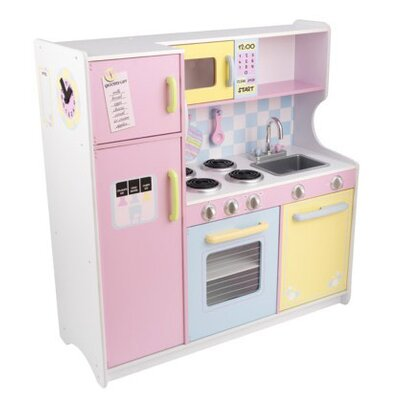 Kidkraft pastel kitchen reviews wayfair for Kids kitchen set sale