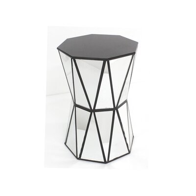 Zuhaus Tricia Mirrored End Table