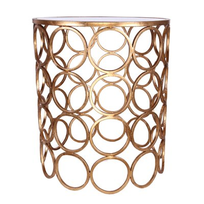 Zuhaus Chaplin Stacked Ring Mirrored End Table