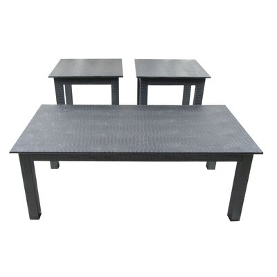 Upscale Designs by EMA 3 Piece Coffee Table Set
