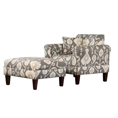 Carolina Accents Briley Java Armchair and Ottoman