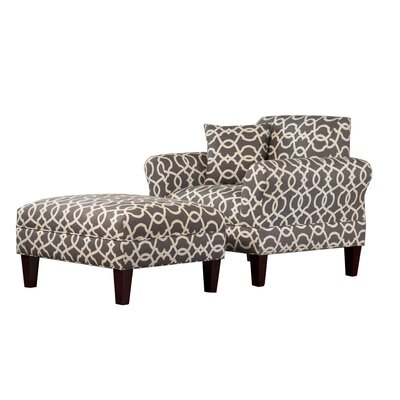 Carolina Accents Briley Armchair and Ottoman