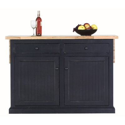 Breakwater Bay Meredith Kitchen Island with Butc..