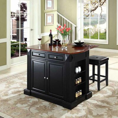 Breakwater Bay Plumeria Kitchen Island