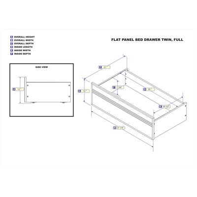 Latitude Run Amy Raised Panel Bed Drawer (Set of..
