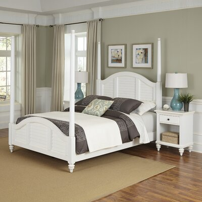 Breakwater Bay Kenduskeag Four Poster 3 Piece Be..