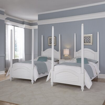 Breakwater Bay Kenduskeag Twin Four Poster Bed