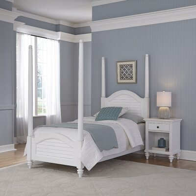 Breakwater Bay Kenduskeag Four Poster 2 Piece Bedroom Set