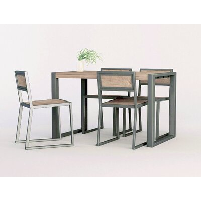 ASTA Home Furnishing Industrial 5 Piece Dining Set