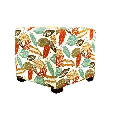 MJL Furniture Flora Foliage Tufted Square Ottoman