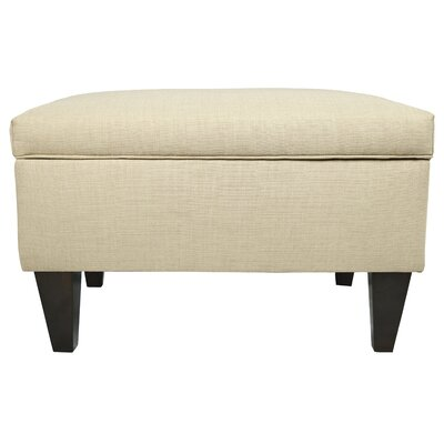 MJL Furniture Brooklyn Upholstered Square Legged Box Storage Ottoman