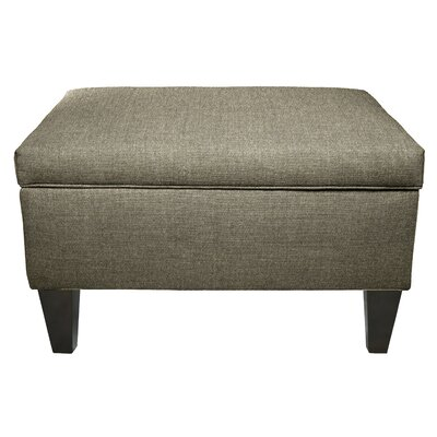 MJL Furniture Dawson Legged Box Storage Ottoman