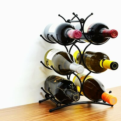 Superiore Livello Turin 6 Bottle Tabletop Wine Rack