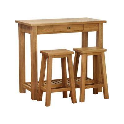 Besp-Oak Vancouver 3 Piece Pub Table Set