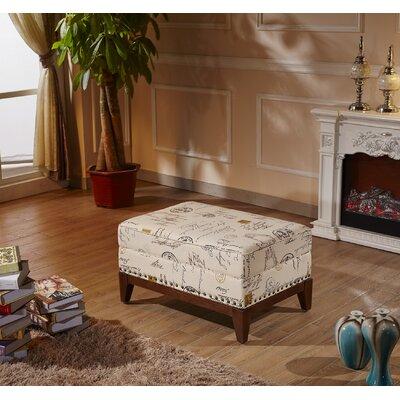 Corzano Designs Premium Script Ottoman Bench