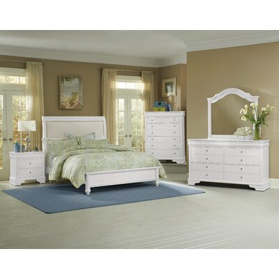Virginia House French Market 4 Drawer Storage Dresser with Mirror