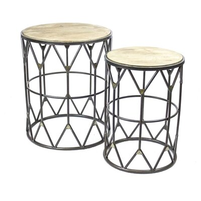 Sagebrook Home 2 Piece End Table Set