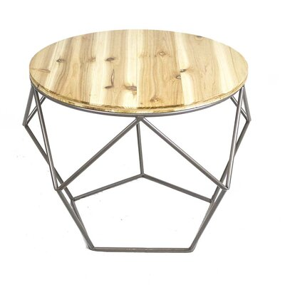 Sagebrook Home Metal Wood Top End Table