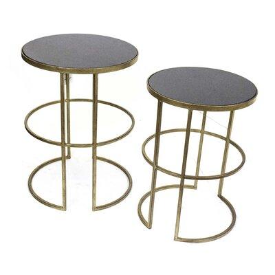Sagebrook Home Metal End Table (Set of 2)