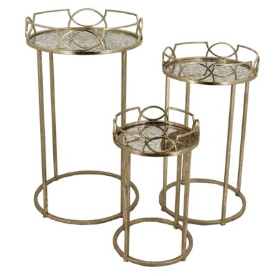 Sagebrook Home 3 Piece Side Table Set
