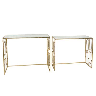Sagebrook Home 2 Piece Console Table Set