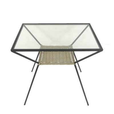 Sagebrook Home Woven Rattan and Metal End Table