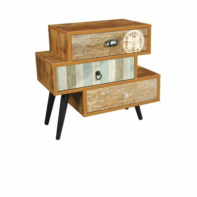 The Urban Port 3 Drawer Mixen End Table