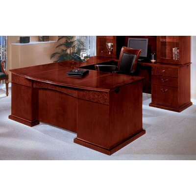 Flexsteel Contract Del Mar U-Shape Bow Front Executive Desk with Right Return