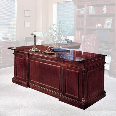 Darby Home Co Prestbury Executive Desk with Left Single Pedestal