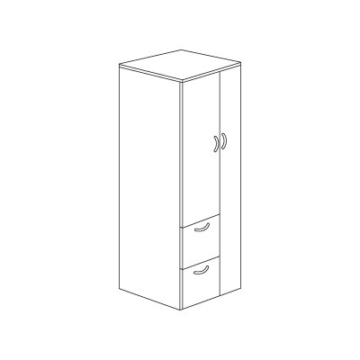 Flexsteel Contract Fairplex Storage Cabinet
