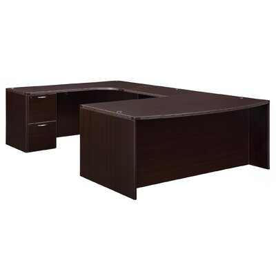 Flexsteel Contract Fairplex Executive Desk with Corner Credenza
