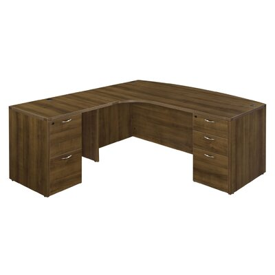Flexsteel Contract Fairplex Executive Desk with 5 Drawers