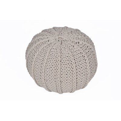 VCNY Cable Knitted Round Pouf