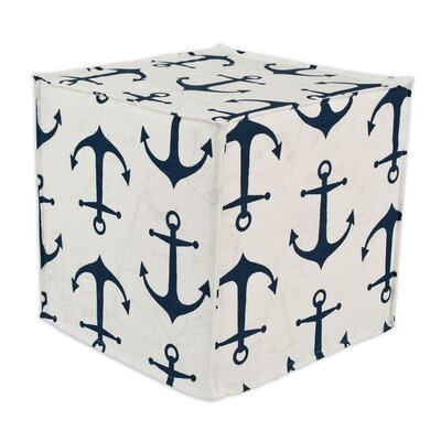 Brite Ideas Living Anchors Premier Hassock Seamed Cube Ottomans