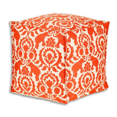 Brite Ideas Living Babar Spice Square Seamed Beads Hassock Ottoman