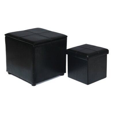 Attraction Design Home 2 Piece Storage Ottoman Set