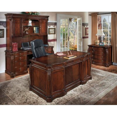 Rosalind Wheeler Beley 4-Piece Standard Desk Office Suite