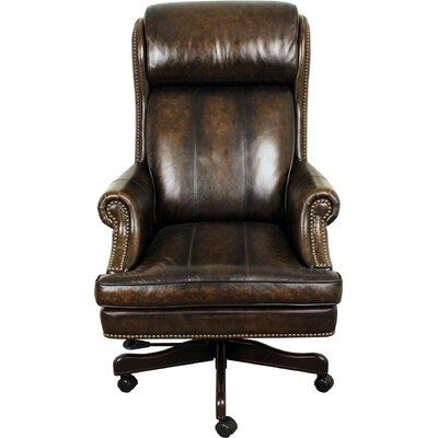 Rosalind Wheeler Lynton High-Back Leather Executive Office Chair